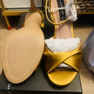 Yellow satin shoes from Steven by Steven Madden